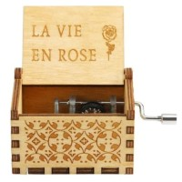 Wooden music box La vie en rose