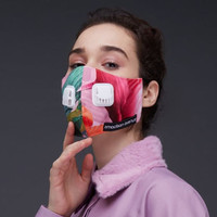 2Madison Miami Pink Premium Facemask With Air Valve