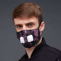 2Madison Army Purple Black Facemask With Air Valve