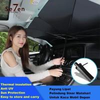 A125 Payung Lipat Pelindung Sinar Matahari Untuk Kaca Mobil Depan