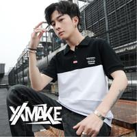 XXMAKE XXC135 Ori Kaos Cowo Original Pria tshirt polo kasual Atasan - Hitam, XXL