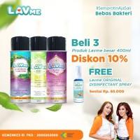 Lavme Disinfectant Anti Virus Organic 400ml - 3pcs Free Lavme 60ml