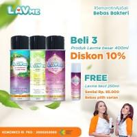 Lavme Disinfectant Anti Virus Organic 400ml - 3pcs Free Lavme 250ml