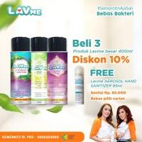 Lavme Disinfectant Anti Virus Organic 400ml - 3pcs Free Lavme 85ml
