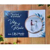 Buku Tamu Pernikahan / Gues Book / Buku Tamu Undangan Costume - GB 08