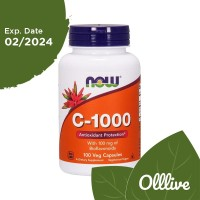 NOW Foods Vitamin C-1000 with Bioflavonoid 100 Vegan Capsules