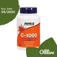 NOW Foods Vitamin C-1000 Rose Hips Sustained Release 100 Tablets