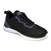 Carvil Sepatu Pria FEDERER-02 BLACK/WHITE