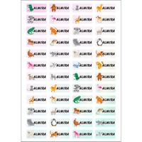 ISI LEBIH BANYAK Sticker Label Name Animal Waterproof Stiker Nama