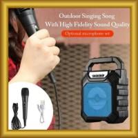 Speaker Bluetooth Portabel F668 Free Mic Karaoke