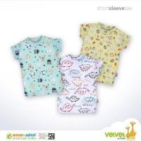 Velvet Junior Kaos Oblong Lengan Pendek Bloon - 3pcs