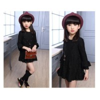 DRESS BRUKAT ANAK HITAM dress pesta import anak dress lace hitam