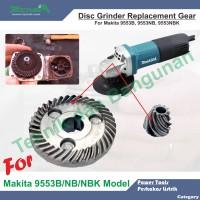 Gear Gerinda Tangan untuk Makita 9553B, 9553NB, 9553NBK