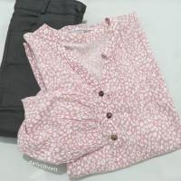 preloved pink animal print loose top / atasan blouse oversized