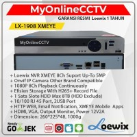 NVR IP CAMERA CCTV 8 CH Original XMeye Asli 5MP Suport Onvif Hikvision