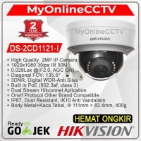 DS-2CD1121-I Hikvision CCTV IP Camera 2MP DOME Indoor POE WDR