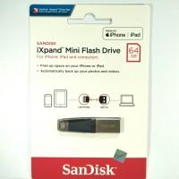 SANDISK IXPAND MINI 64GB USB 3.0 / DUAL DRIVE 64 GB FOR IPAD -IPHONE