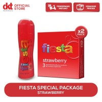 [Special Package] Kondom Fiesta Strawberry & Lubricant Strawberry