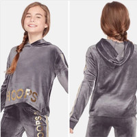 [5 Variasi] JUSTICE Velour Sports Sweater Hoodie Anak Perempuan