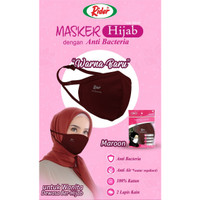 Masker Kain Rider Anti Bakteri 2 ply (Earloop Merah Maroon)