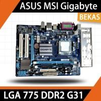 MOTHERBOARD LGA 775 DDR2 G31 ASUS MSI Gigabyte