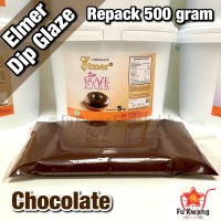 Elmer Dip Glaze Dark Chocolate repack 500 gram