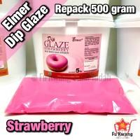 Elmer Dip Glaze Strawberry repack 500 gram