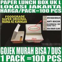 Paper lunch box Tutup 100ps uk L food tray kotak maknan kertas Jakarta