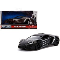 Jada Toys 1/32 - Metal Diecast Lykan Hypersport Black Panther Marvel