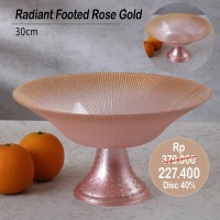 PERO RADIANT FOOTED ROSE GOLD