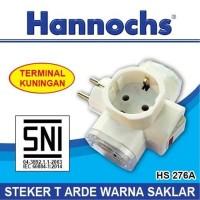 Over Steker Saklar HANNOCHS HS 276A T ARDE - Steker Colokan Cabang 3