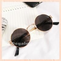Kacamata Hitam Wanita / Sunglasses Bulat Fashion Kekinian