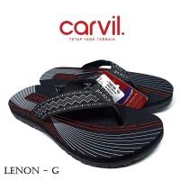 Sandal Pria Carvil Original Anti Air - Sendal Carvil Pria Lenon Grey