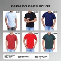 Kaos Polos Bahan Asli Cotton Combed 30s Size S M L XL Bandung - Putih, S