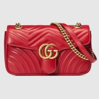 Gucci GG Marmont Mini Cross-body Bag - Red 100% Authentic