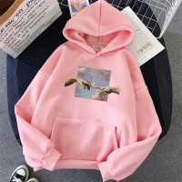 hands graphic, hoodie wanita, sweater