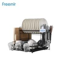 Freemir rak piring stainless pengering peralatan makan adjusted rack