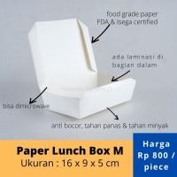 Paper Lunch Box / Kotak Makan Kertas ukuran M - 16x9x5 cm