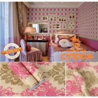 Home Wallpaper Sticker Dinding Batik Pinky - 45cm x 10 m