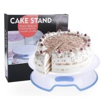 Cake Stand 30cm Lockable Decorating Turntable Meja Dekorasi Kue 2in1