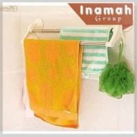 Wall Towel Hanger GANTUNGAN HANDUK BAJU TEMPEL PRAKTIS TANPA PAKU