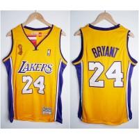 JERSEY BASKET NBA LAKERS #24 KOBE BRYANT KUNING 08/09 MITCHELL&NESS