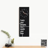 Jam dinding unik - catch your dreams - Hitam