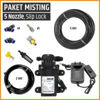 Paket Misting / Kabut / Embun, 5 Mist Nozzle, Paludarium / Terrarium