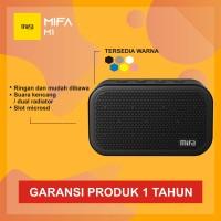 MiFa M1 Bluetooth Portable Speaker Cube - Hitam dan Putih - Hitam - Hitam