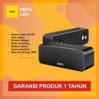 MiFa A20 Bluetooth Speaker Stereo Portable HiFi 30W HD Bass - Hitam - Merah