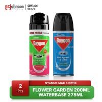 Mini Baygon Aerosol Flower Garden & Waterbase