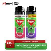 Mini Baygon Aerosol Flower Garden & Silky Lavender