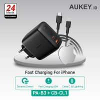 Aukey Charger PA-B3 + Aukey Charger CB-CL1 Black