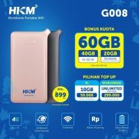 Modem Wifi 4G HKM G008 Free XL Go IZI 40GB Unlocked Resmi